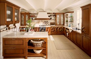Solid Wood Kitchen Cabiet