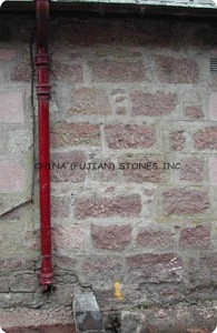 red wall stone